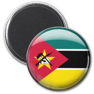 Drapeau de la Mozambique Magnet Rond 8 Cm