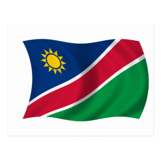 Drapeau de la Namibie Carte Postale
