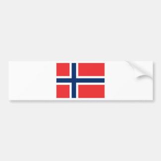 Drapeau de la Norvège Autocollant Pour Voiture