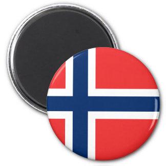 Drapeau de la Norvège Magnet Rond 8 Cm