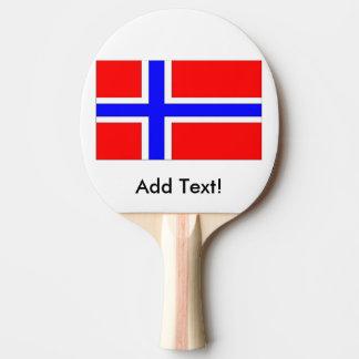 Drapeau de la Norvège Raquette Tennis De Table