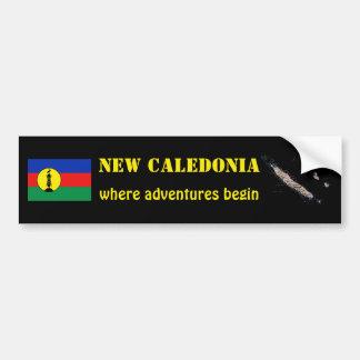 Drapeau de la Nouvelle-Calédonie + Adhésif pour pa Adhésifs Pour Voiture