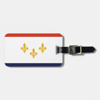 Drapeau de la Nouvelle-Orléans, Louisiane Étiquette À Bagage