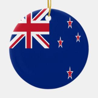 Drapeau de la Nouvelle Zélande Ornement Rond En Céramique
