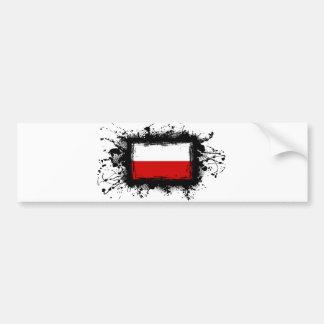 Drapeau de la Pologne Autocollants Pour Voiture