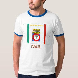 Drapeau de la Puglia avec le nom T-shirts