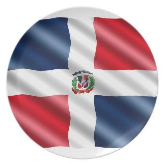 Drapeau de la République Dominicaine Assiette