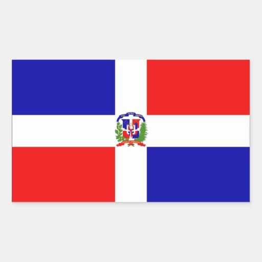 Drapeau de la République Dominicaine Sticker En Rectangle