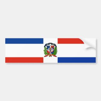 Drapeau de la République Dominicaine Autocollant De Voiture