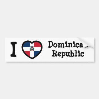 Drapeau de la République Dominicaine Autocollant Pour Voiture