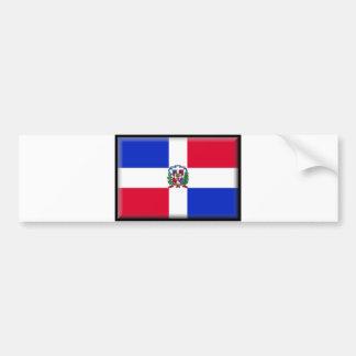 Drapeau de la République Dominicaine Autocollants Pour Voiture