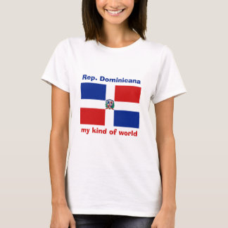 Drapeau de la République Dominicaine  + Carte + T-shirt