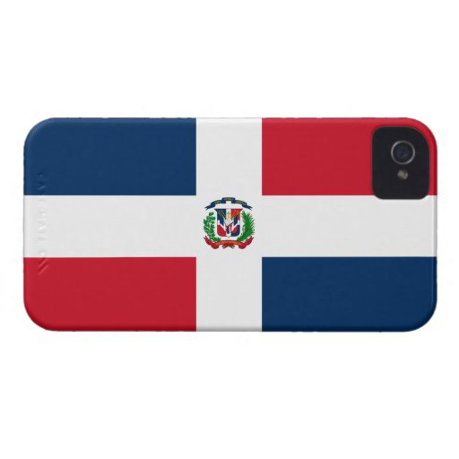 Drapeau de la République Dominicaine Étui iPhone 4