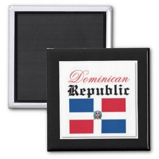 Drapeau de la République Dominicaine Aimants Pour Réfrigérateur