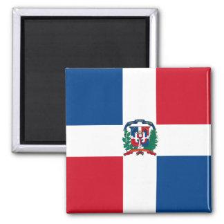 Drapeau de la République Dominicaine Magnet Carré