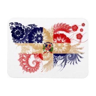Drapeau de la République Dominicaine Magnets Rectangulaires