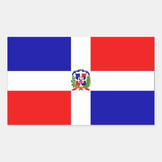 Drapeau de la République Dominicaine Sticker Rectangulaire