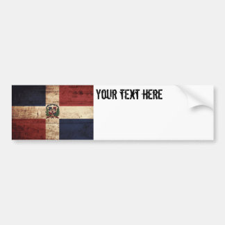 Drapeau de la République Dominicaine sur le vieux Autocollant De Voiture