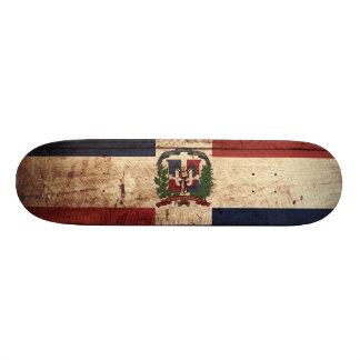 Drapeau de la République Dominicaine sur le vieux Skateboard 19,7 Cm