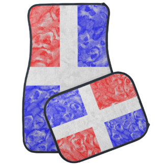 Drapeau de la République Dominicaine Tapis De Voiture