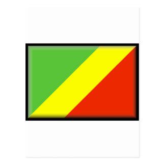 Drapeau de la République du Congo Carte Postale
