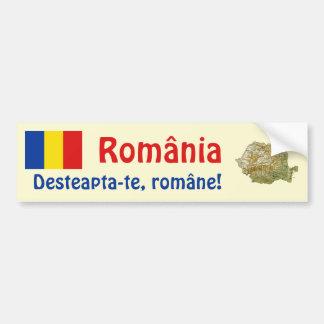 Drapeau de la Roumanie + Adhésif pour pare-chocs d Adhésif Pour Voiture