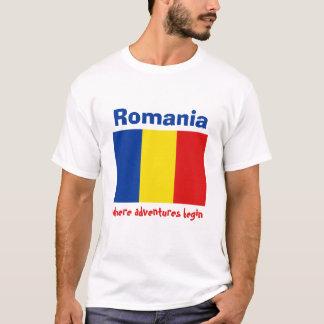Drapeau de la Roumanie + Carte + T-shirt des