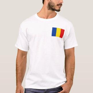 Drapeau de la Roumanie et T-shirt de carte