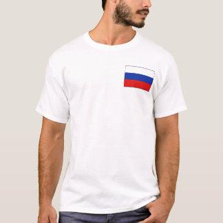 Drapeau de la Russie et T-shirt de carte