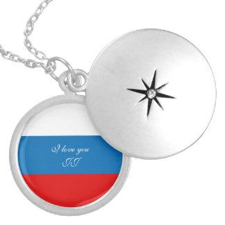 Drapeau de la Russie Médaillon Avec Fermoir