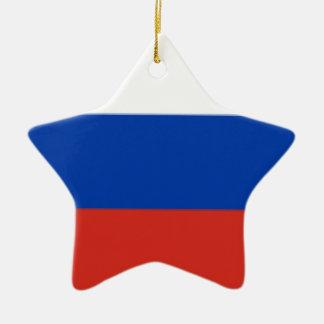 Drapeau de la Russie Ornement Étoile En Céramique