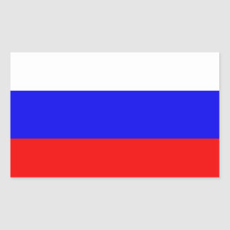 Drapeau de la Russie Sticker Rectangulaire