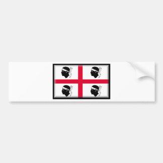 Drapeau de la Sardaigne (Italie) Autocollant Pour Voiture