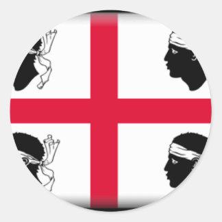 Drapeau de la Sardaigne (Italie) Sticker Rond