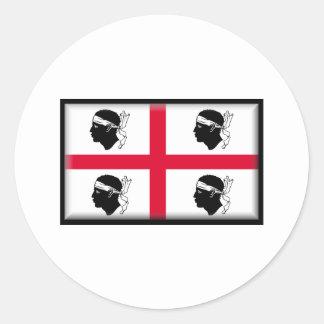 Drapeau de la Sardaigne Sticker Rond