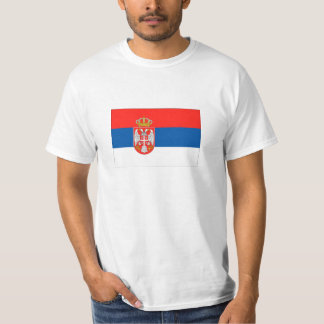 Drapeau de la Serbie T-shirt