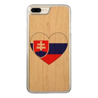 Drapeau de la Slovaquie simple Coque Iphone 7 Plus En Bois