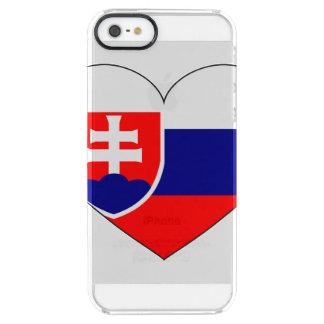 Drapeau de la Slovaquie simple Coque iPhone Clear SE/5/5s