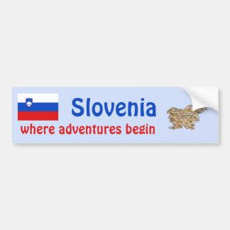 Drapeau de la Slovénie + Adhésif pour pare-chocs d Autocollant Pour Voiture