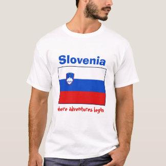Drapeau de la Slovénie + Carte + T-shirt des