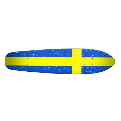 Drapeau de la Suède Bling Skateboards Cutomisables