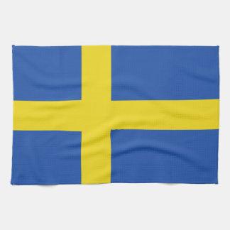 Drapeau de la Suède Linge De Cuisine