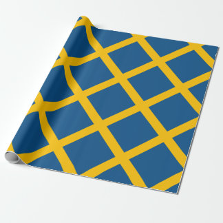 Drapeau de la Suède Papiers Cadeaux Noël