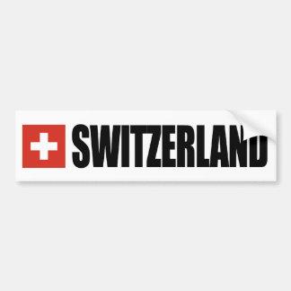 Drapeau de la Suisse Autocollant De Voiture