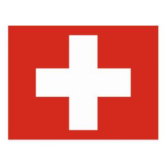 Drapeau de la Suisse Carte Postale