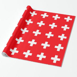 Drapeau de la Suisse Papier Cadeau Noël