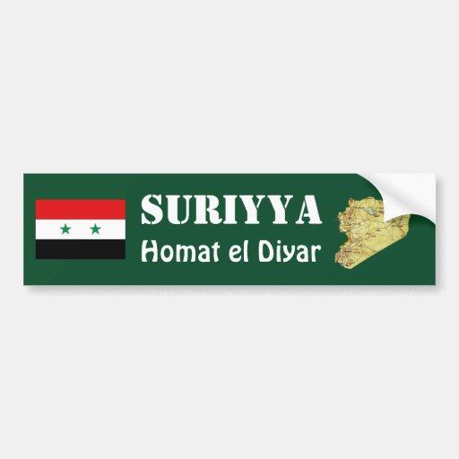 Drapeau de la Syrie + Adhésif pour pare-chocs de c Adhésif Pour Voiture