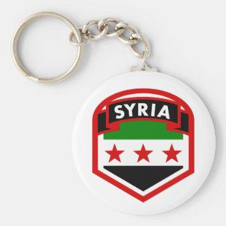 Drapeau de la Syrie Porte-clé Rond