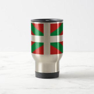 Drapeau de la tasse Basque de voyage/banlieusard
