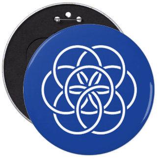 Drapeau de la terre de planète - bouton badge rond 15,2 cm
